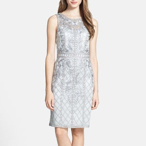 SUE WONG Embroidered Lace & Tulle Charcoal 2 #173